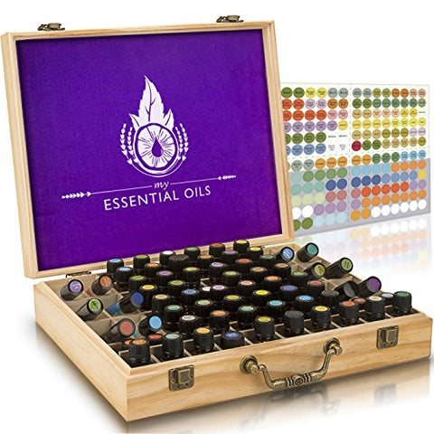az - Essential Oil Wooden Box - Storage Case