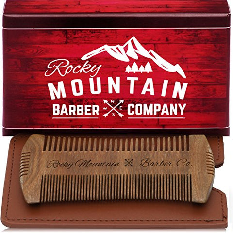 rm - Beard Comb - Sandalwood Natural Hatchet Style for Hair