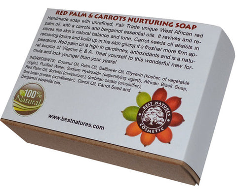 bn - Red Palm-Carrot Nurturing Organic Soap. All