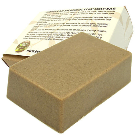 bn - Moroccan Rhassoul clay soap bar. All Natural SLS