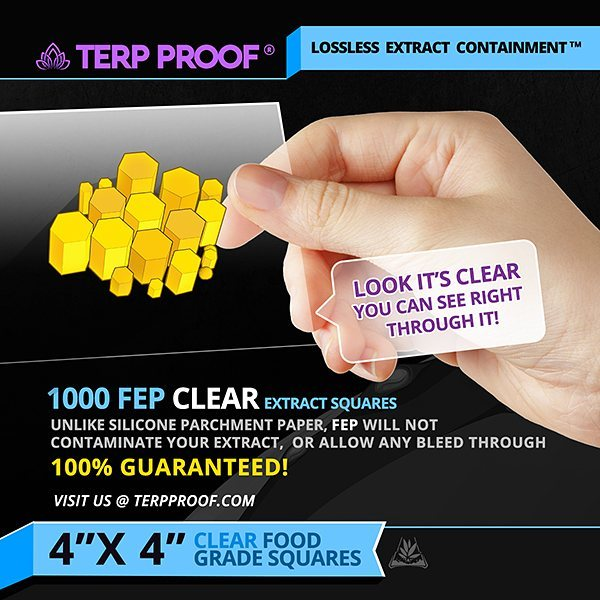 "FEP - 4"" x 4"" - Clear Squares"