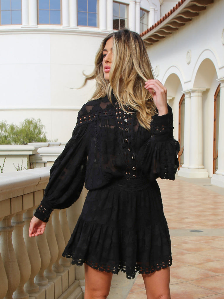 Poppy Ana Blouse - Black