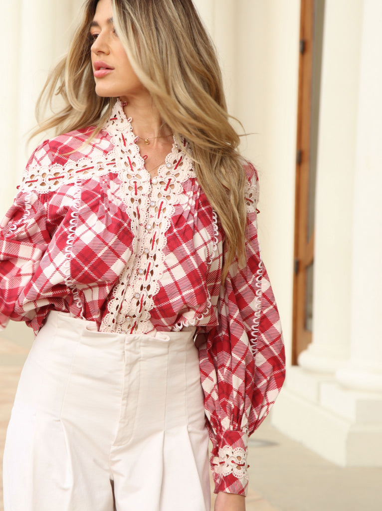 Plaid Ana Blouse