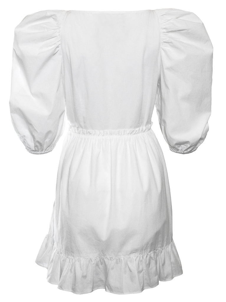 White Poplin Jules Dress