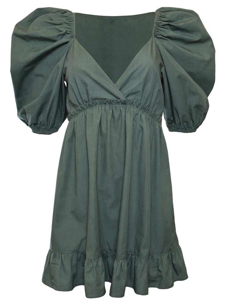 NOW x RAHI - Sage Poplin Jules Dress