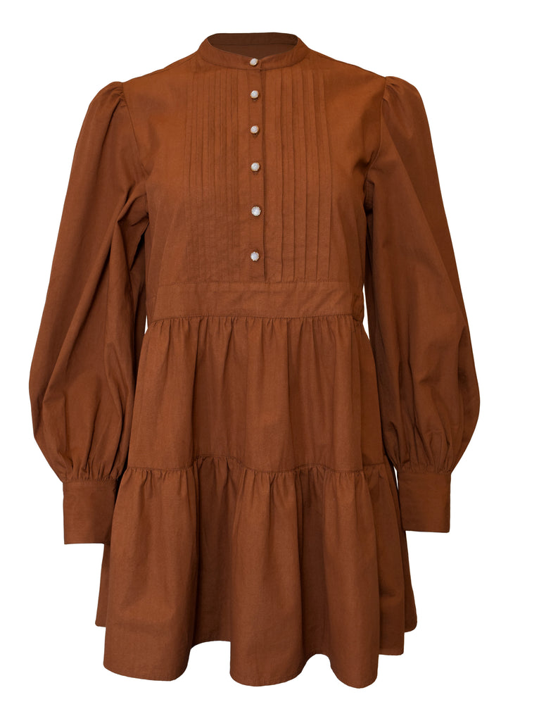 NOW x RAHI - Ginger Poplin Shirt Dress