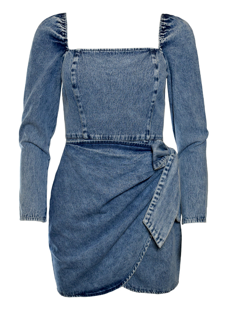 NOW x RAHI - Denim Felicity Dress