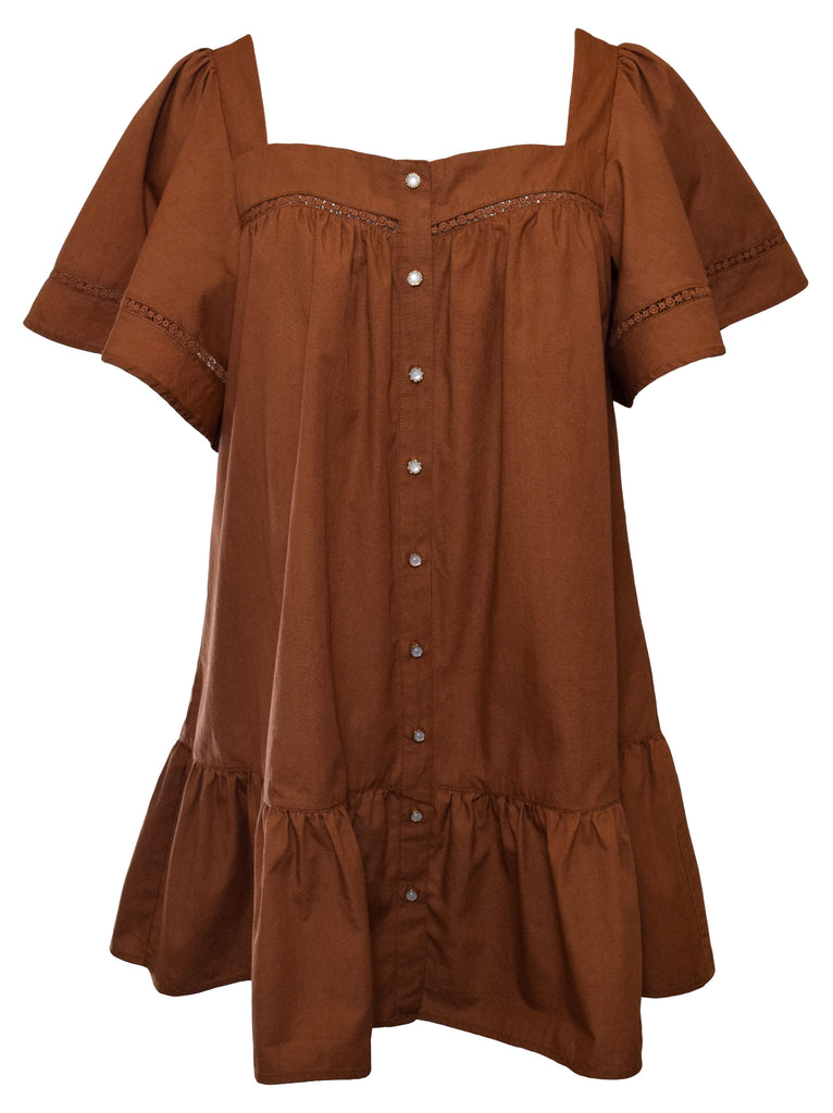 NOW x RAHI - Ginger Poplin Tunic Dress