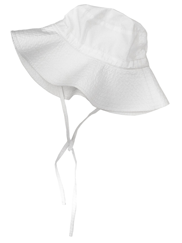 White Floppy Bucket Hat