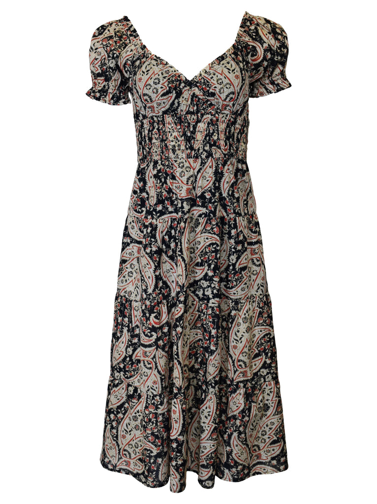 NOW x RAHI - Paisley Shiloh Midi Dress