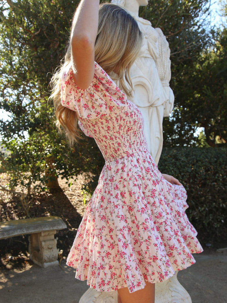 Ditsy Rose Mini Dress