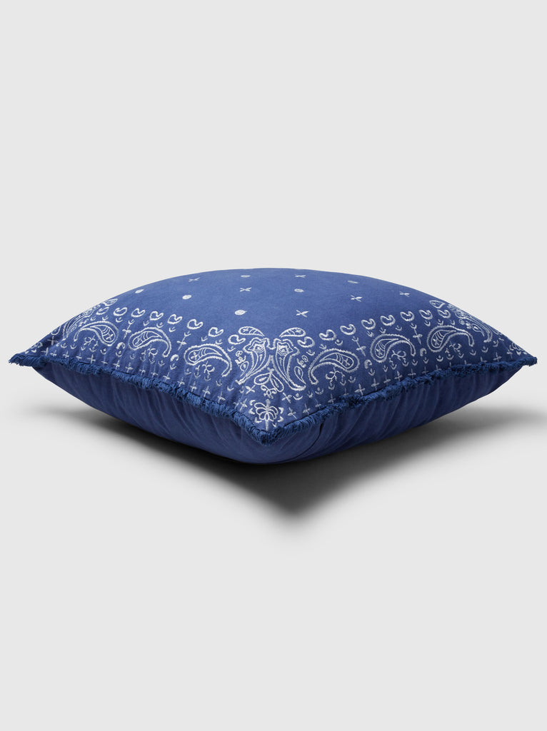 "NFC x RAHI - Embroidered Bandana Throw Pillow, 24""x24"""