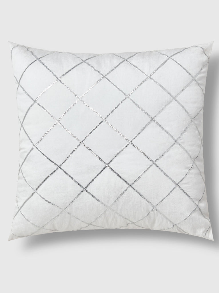 "NFC x RAHI - Silver Linings Embellished Throw Pillow, 18""x18"""