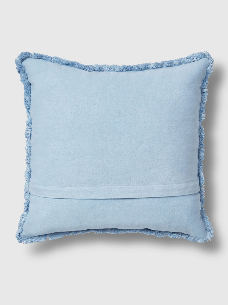 "NFC x RAHI - Embroidered Bandana Throw Pillow, 18""x18"""