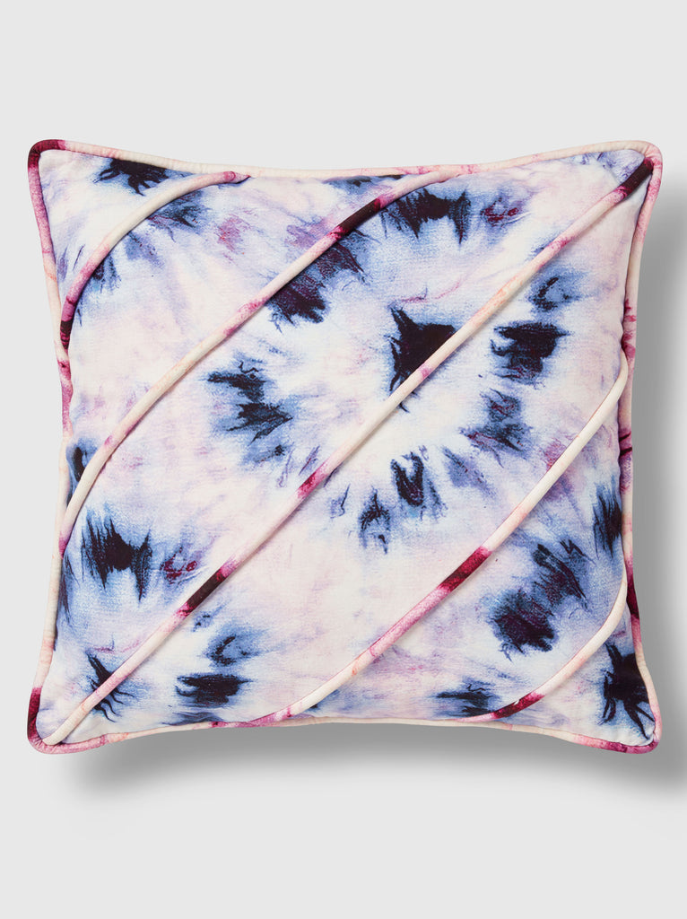 "NFC x RAHI - Bullseye Tie Dye Throw Pillow, 24""x 24"""