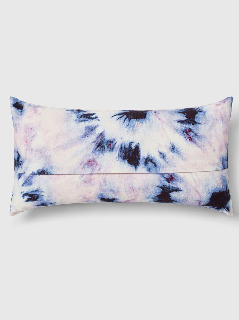 "NFC x RAHI - Bullseye Tie Dye Throw Pillow, 12""x18"""