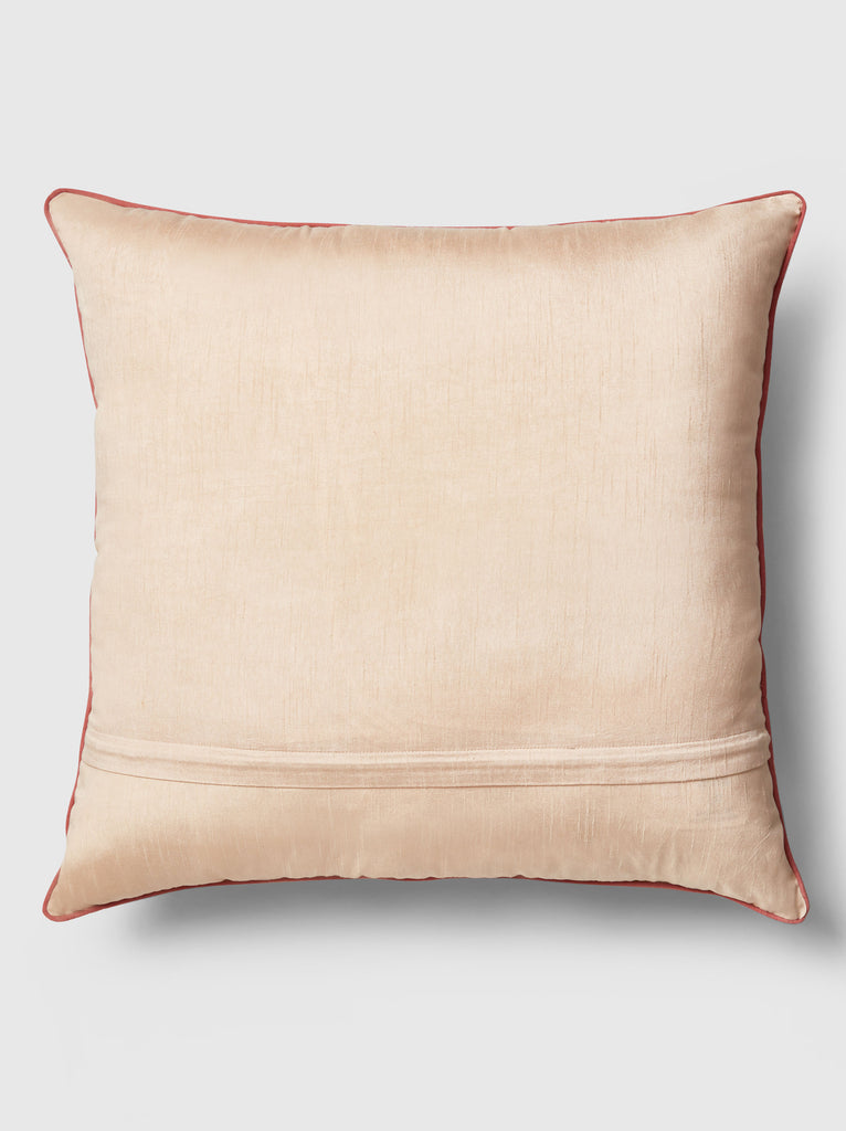 "NFC x RAHI - Embroidered Floral Throw Pillow, 24""x 24"""