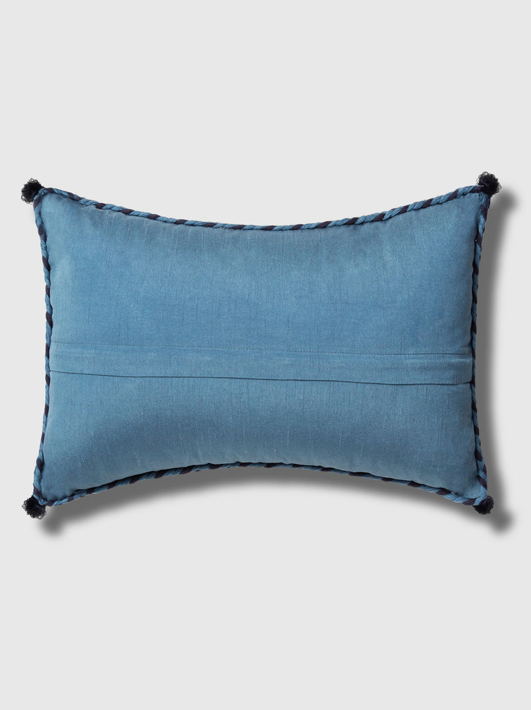 "NFC x RAHI - Embroidered Tassel Throw Pillow, 12""x 18"""