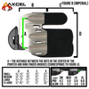 AXCEL® Contour Finger Tab - Small and Medium  - LEFT HAND - Brady Ellison Series