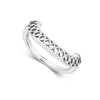 Seville Crescent Ring, Silver