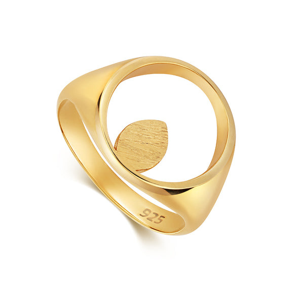 Apple Pip Signet Ring, Gold