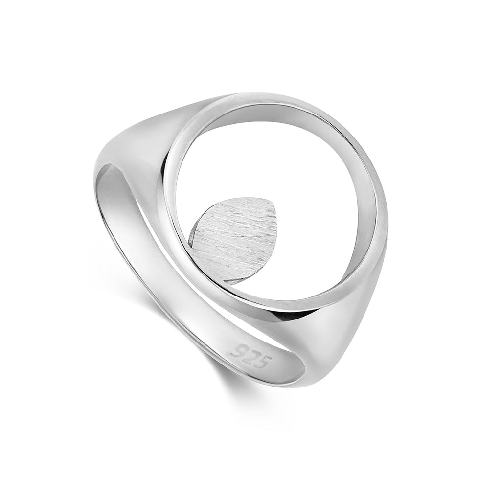 Apple Pip Signet Ring, Silver