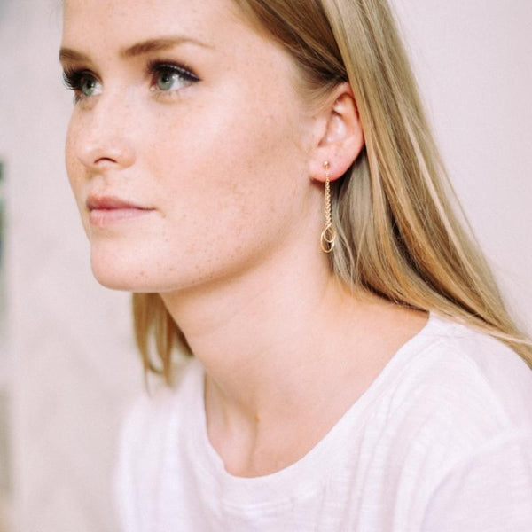 Gold earrings - sustainable jewellery