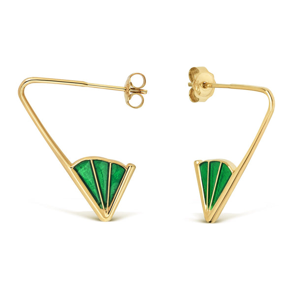 Wedge Angle Earrings, Enamel