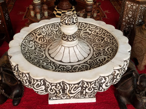 Moroccan arabic calligraphy marble fountain