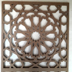 moroccan lattice wall panel. Great geometrical cut, great screen panel that would go on a wall
