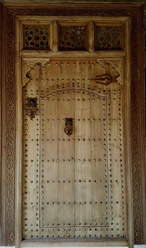 Moroccan large wooden door