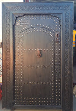 moroccan large black door