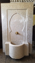 Andalusian cream zellige tile fountain