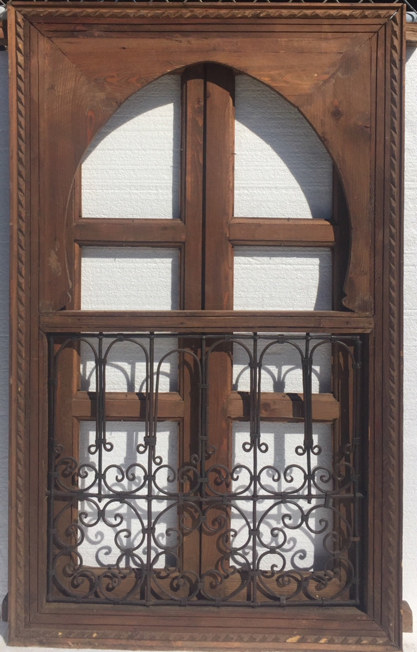 moroccan wrought iron window