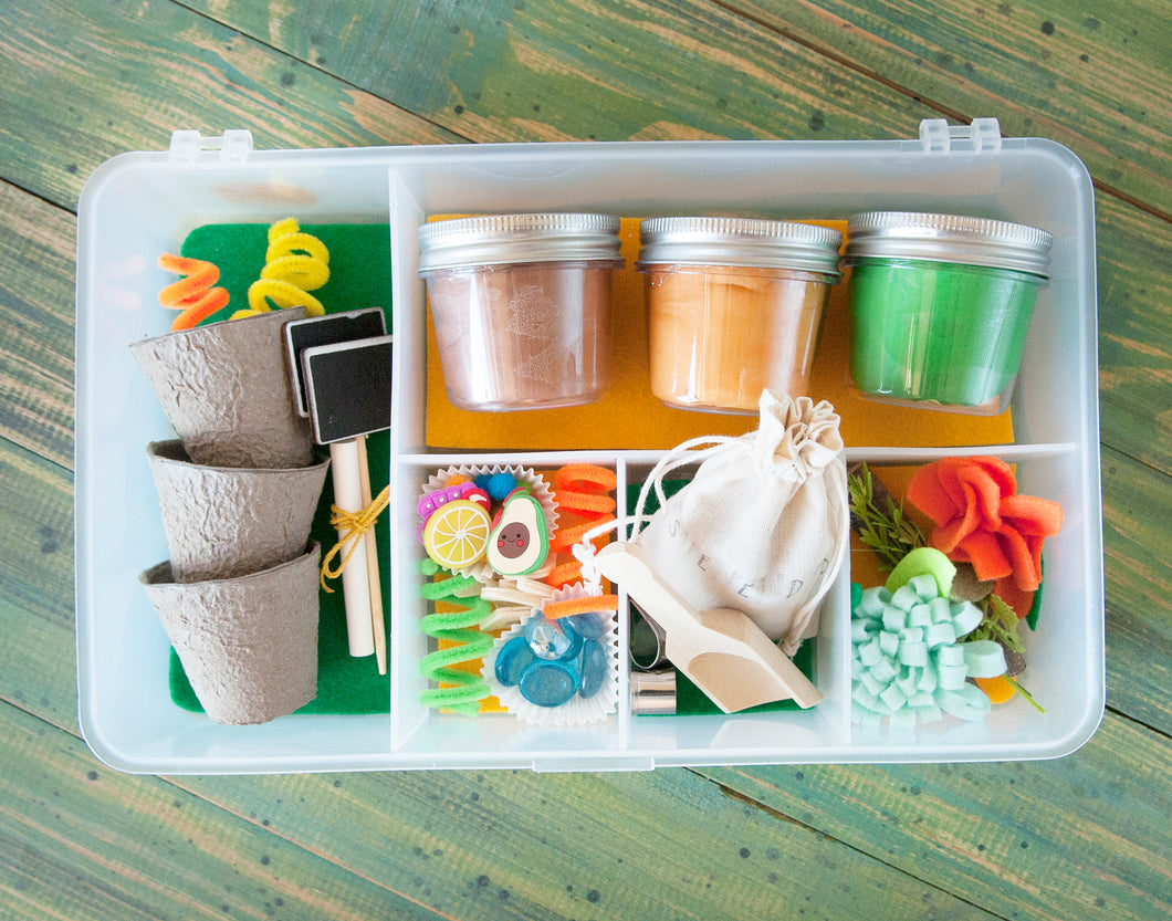 My Garden Play Dough Sensory Boxes