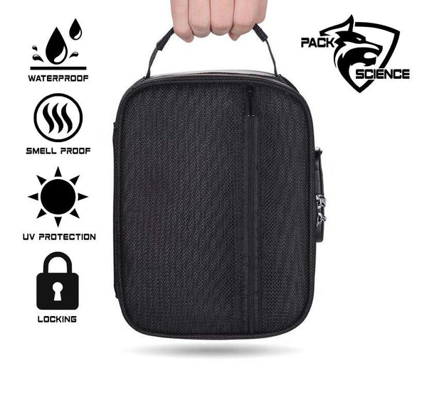 Pack Science Smell Proof Carbon Lined Locking Stash Bag - Discount E-Nails
