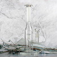 Reanice White Straight Bottle Recycler - Discount E-Nails