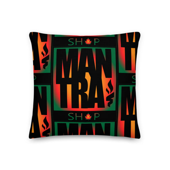 """TrippyLeaf Boxbrand"" Throw Pillow"