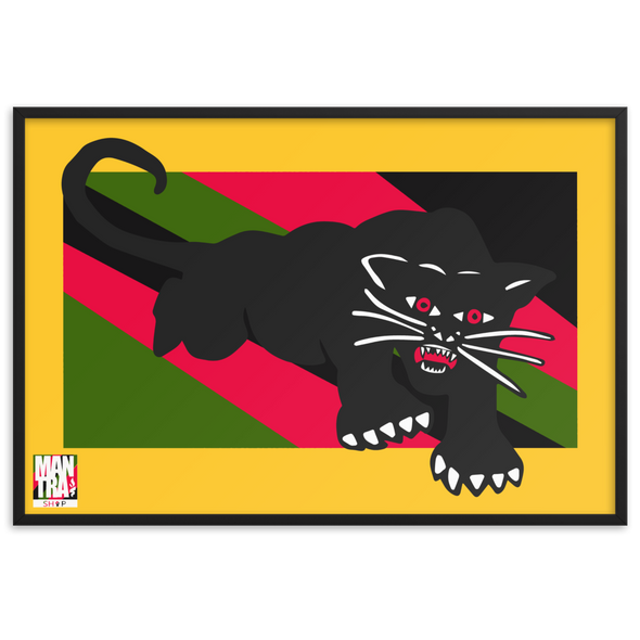 """Run run, rare PANther"" Framed Matte Poster Reprint (24x35in)"