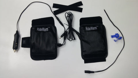 Ridewarm removable heated grip covers