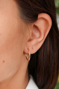 The Plain Jane Hoop Earrings - Small
