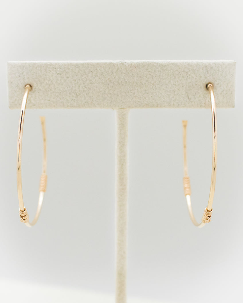 The Knot Hoop Earrings