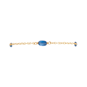 The 3 Stone Bracelet - Blue Kyanite