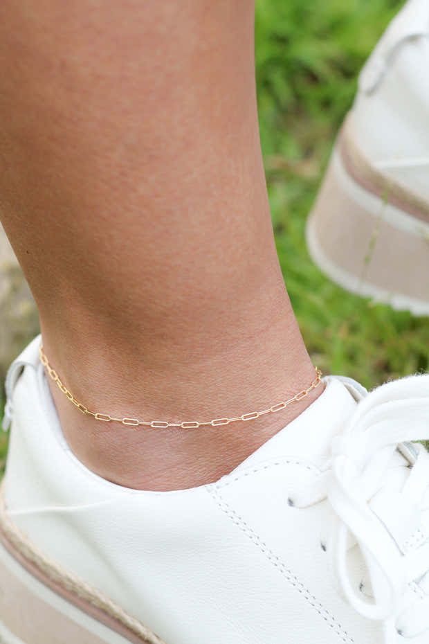 The Paperclip Chain Anklet 1