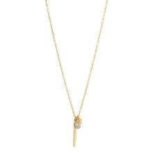 The Bar Charm Necklace - Cubic Zirconia