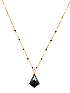The Black Beauty Necklace - Black Spinel