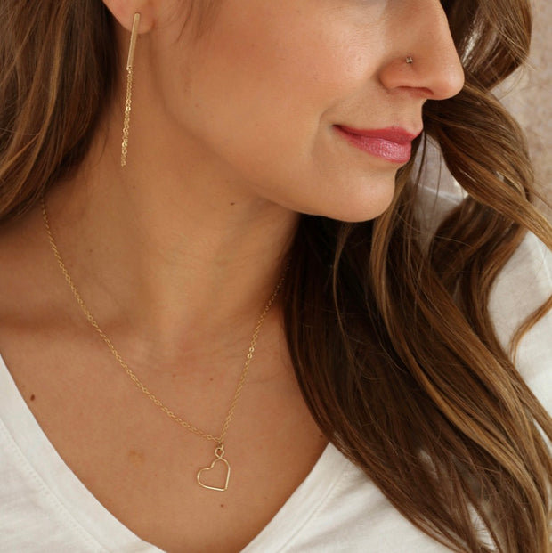The Open Heart Necklace 1
