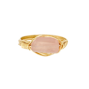 The Posh Ring - Rose Quartz