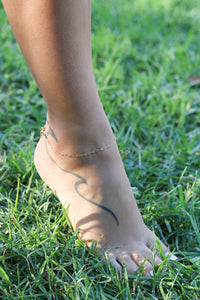 The Paperclip Chain Anklet