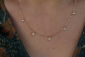 The Multi Drop Necklace- Hearts